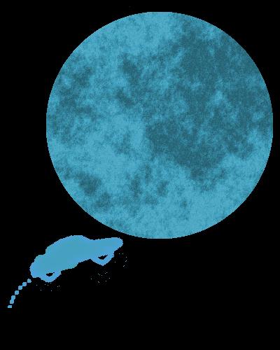 mit dem Auto zum Mond