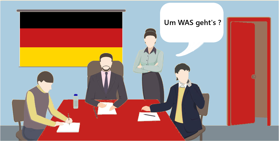 vor einem Meeting in Deutschland: Um WAS geht's?
