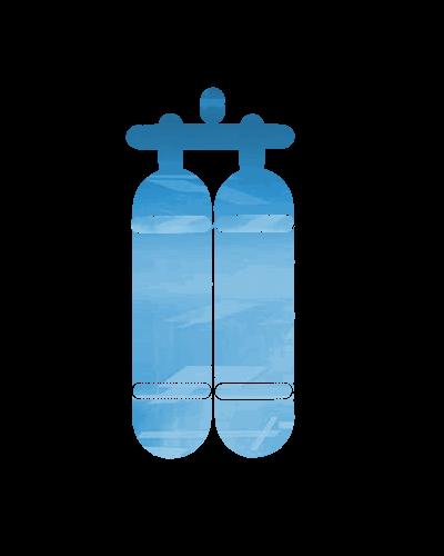 Taucherflaschen Symbol